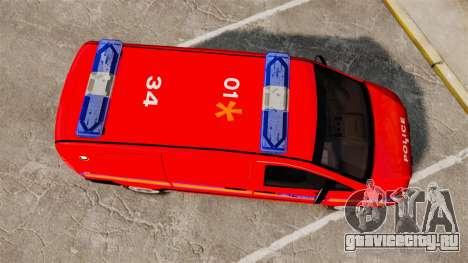 Mercedes-Benz Vito Metropolitan Police [ELS] для GTA 4 вид справа