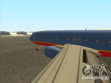 Boeing 737 Southwest Airlines для GTA San Andreas вид сзади слева