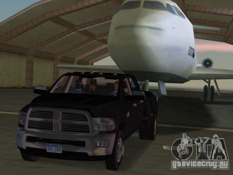 Dodge Ram 3500 Laramie 2012 для GTA Vice City вид снизу