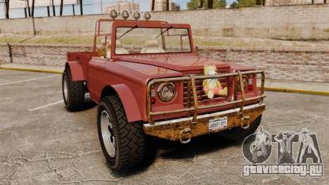 GTA V Canis Bodhi (Trevor Car) для GTA 4