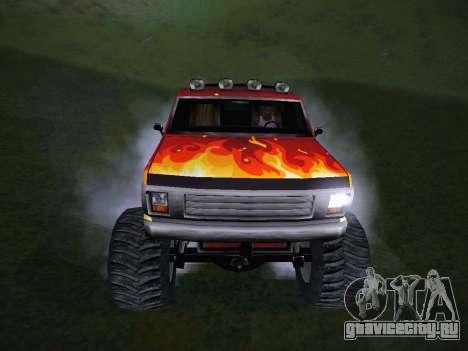 Новые текстуры для Monster A для GTA San Andreas вид сзади
