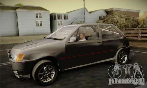 Ford Fiesta Mk3 XR2i для GTA San Andreas вид справа