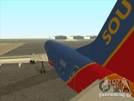 Boeing 737 Southwest Airlines для GTA San Andreas вид справа