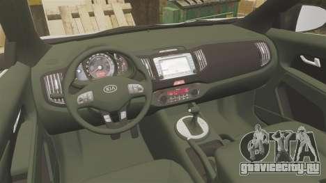 Kia Sportage Metropolitan Police [ELS] для GTA 4 вид сзади