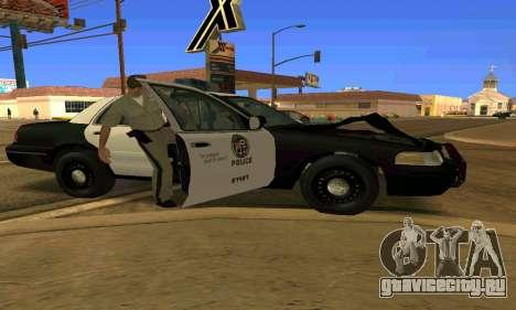 Ford Crown Victoria Police LV для GTA San Andreas вид снизу