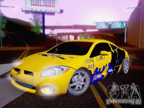 Mitsubishi Eclipse v4 для GTA San Andreas вид сбоку