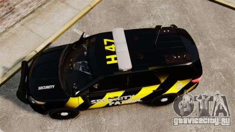 Ford Explorer 2013 Security Patrol [ELS] для GTA 4 вид справа