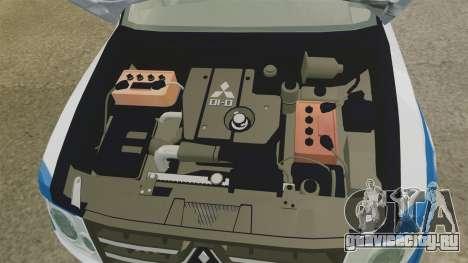 Mitsubishi Pajero Finnish Police [ELS] для GTA 4 вид сзади