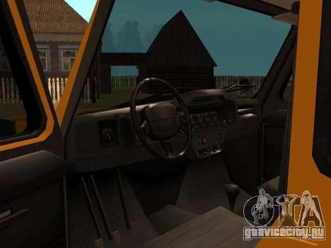 УАЗ 3159 Барс для GTA San Andreas вид сзади