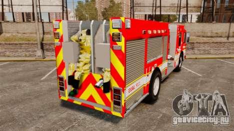Division on Fire Columbus Firetruck [ELS] для GTA 4 вид сзади слева
