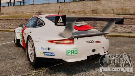 Porsche 911 (991) RSR для GTA 4 вид сзади слева