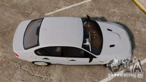 BMW M3 Unmarked Police [ELS] для GTA 4 вид справа