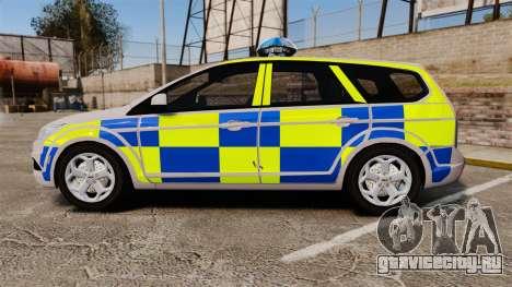 Ford Focus Estate 2009 Police England [ELS] для GTA 4 вид слева