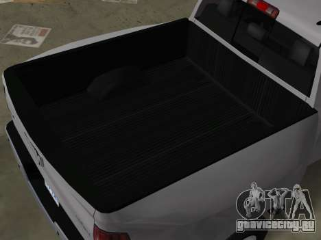 Dodge Ram 3500 Laramie 2012 для GTA Vice City вид изнутри