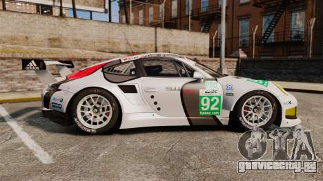 Porsche 911 (991) RSR для GTA 4 вид слева