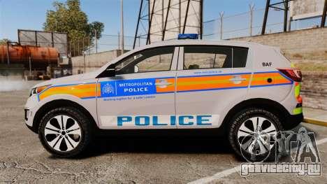 Kia Sportage Metropolitan Police [ELS] для GTA 4 вид слева