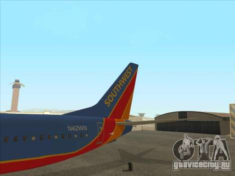 Boeing 737 Southwest Airlines для GTA San Andreas вид сверху