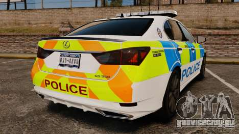 Lexus GS350 West Midlands Police [ELS] для GTA 4 вид сзади слева