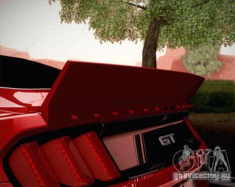Ford Mustang Rocket Bunny 2015 для GTA San Andreas вид снизу