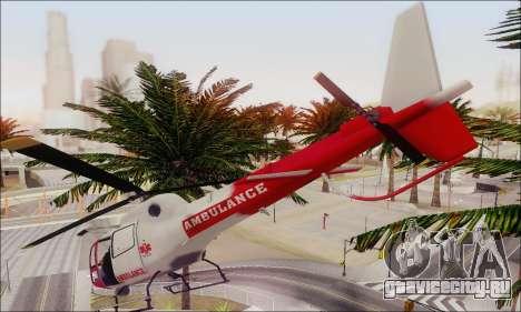 GTA V Ambulacia Maverick для GTA San Andreas вид изнутри
