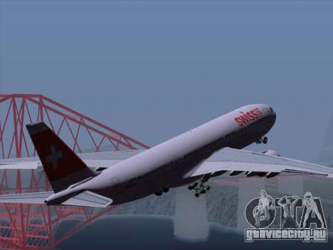 Airbus A330-223 Swiss International Airlines для GTA San Andreas колёса