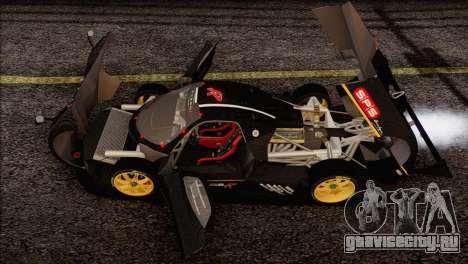 Pagani Zonda R SPS v3.0 Final для GTA San Andreas вид снизу