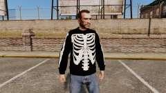 Чёрный свитер -Скелет- для GTA 4