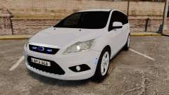 Ford Focus Estate 2009 Unmarked Police [ELS] для GTA 4