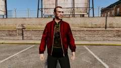 Красная кожаная куртка для GTA 4