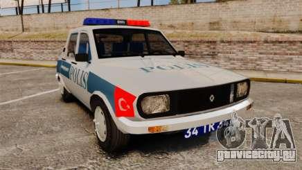 Renault 12 Turkish Police для GTA 4
