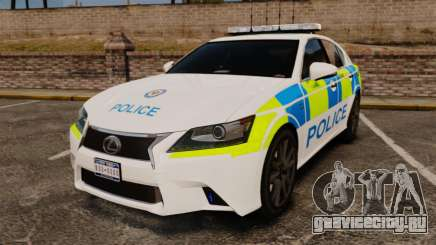 Lexus GS350 West Midlands Police [ELS] для GTA 4