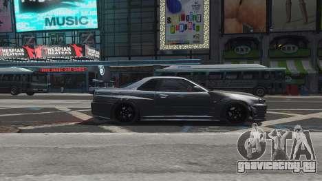 Nissan Skyline GTR-34 Nismo Z-Tune для GTA 4 двигатель