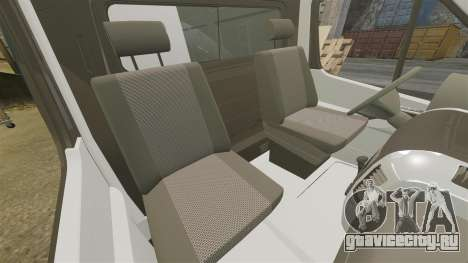 Mercedes-Benz Sprinter Police [ELS] для GTA 4 вид изнутри