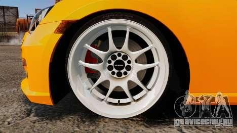 Subaru BRZ 2013 для GTA 4 вид сзади