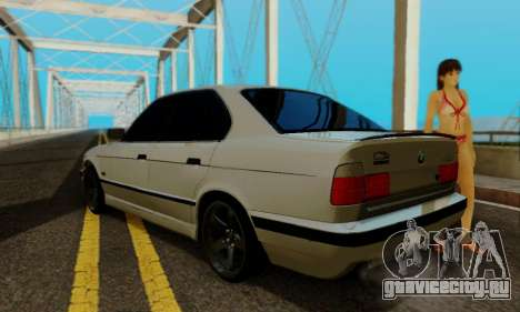 BMW 525 Re-Styling для GTA San Andreas вид сзади