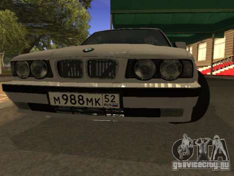 BMW 525 Smotra для GTA San Andreas вид сзади
