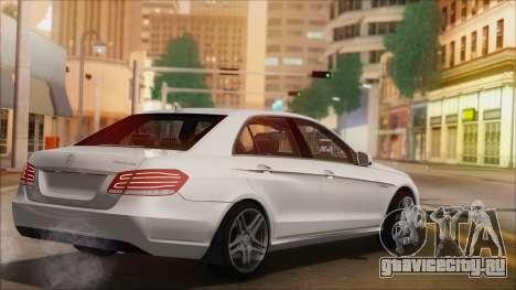 Mercedes-Benz E63 AMG 2014 для GTA San Andreas вид снизу
