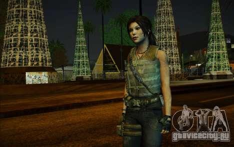 Tomb Raider Lara Croft Guerilla Outfit для GTA San Andreas
