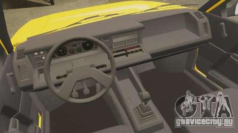 Renault 21 Nevada GTD для GTA 4 вид изнутри