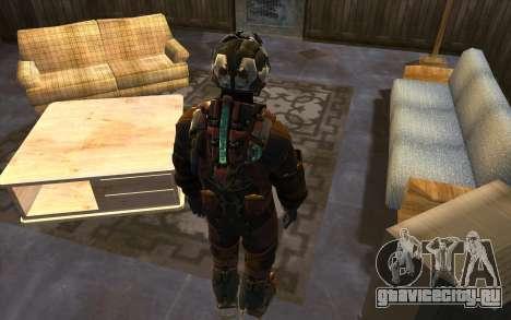 Isaac Clark in E.V.A Suit для GTA San Andreas третий скриншот