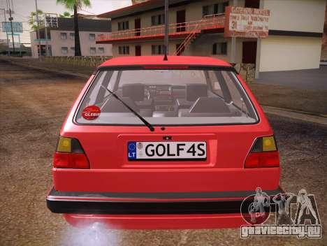 Volkswagen Golf Mk2 для GTA San Andreas вид снизу