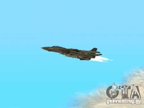 F-14 Tomcat HQ для GTA San Andreas вид изнутри