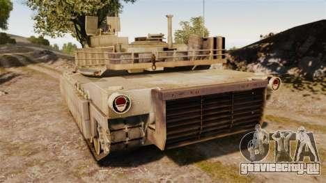 M1A2 Abrams для GTA 4 вид сзади слева