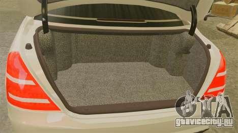 Mercedes-Benz S65 (W221) для GTA 4 вид изнутри