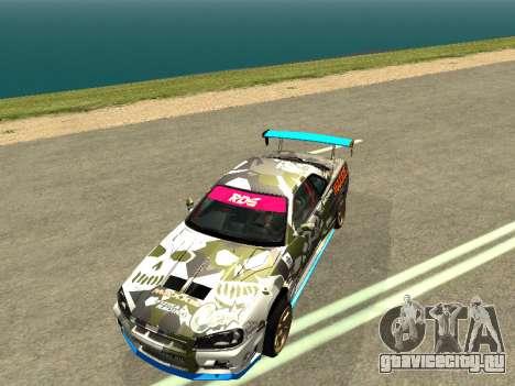 Nissan Skyline Drift для GTA San Andreas вид справа