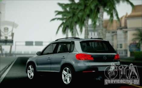Volkswagen Tiguan 2012 для GTA San Andreas вид снизу