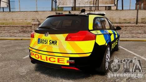 Vauxhall Insignia Sports Tourer Police [ELS] для GTA 4 вид сзади слева