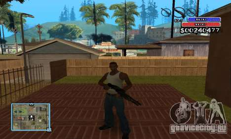 C-HUD by NickQuest для GTA San Andreas