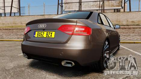 Audi S4 2013 Unmarked Police [ELS] для GTA 4 вид сзади слева