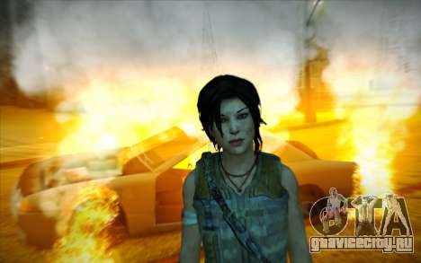 Tomb Raider Lara Croft Guerilla Outfit для GTA San Andreas четвёртый скриншот